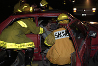 FILE - simulation d'accident<br />  a Mirabel<br />  dans les annees 90  (date inconnue)<br /> <br /> <br /> PHOTO  :  Agence Quebec Presse
