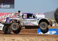 Apr 17, 2011; Surprise, AZ USA; LOORRS driver Travis Coyne (5) during round 4 at Speedworld Off Road Park. Mandatory Credit: Mark J. Rebilas-