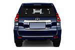 Straight rear view of a 2018 Toyota Landcruiser Premium 5 Door SUV stock images