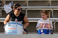 Bridgeview, IL - Saturday June 18, 2016: Chicago Red Stars Fans during a regular season National Women's Soccer League (NWSL) match between the Chicago Red Stars and the Boston Breakers at Toyota Park.