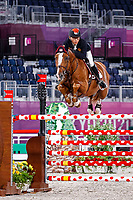 CHN-Xingjia Zhang rides for Passion D IVE Z during the Jumping Team Qualifier. Tokyo 2020 Olympic Games. Friday 6 August 2021. Copyright Photo: Libby Law Photography