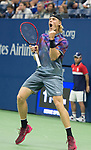 Denis Shapovalov (CAN) plays at the US Open being played on September  3, 2017 at Billy Jean King National Tennis Center in Flushing, Queens, New York.  ©Leslie Billman/EQ