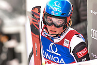 29th December 2020; Semmering, Austria; FIS Womens Giant Slalom World Cu Skiing; Petra Vlhova of Slovakia reacts after her 1st run of women Slalom competition of FIS ski alpine world cup at the Panoramapiste in Semmering