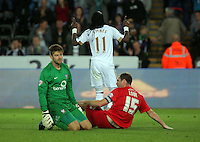 Pictured: Tuesday 25 August 2015<br /> Re: Capital One Cup, Round Two, Swansea City v York City at the Liberty Stadium, Swansea, UK.