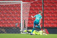 2nd January 2021; Bet365 Stadium, Stoke, Staffordshire, England; English Football League Championship Football, Stoke City versus Bournemouth; Goalkeeper Josef Bursik of Stoke City makes a save