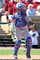 Peoria Chiefs catcher Jose Guevara (30) during a game vs. the Kane County Cougars at Elfstrom Stadium in Geneva, Illinois August 15, 2010.   Peoria defeated Kane County 8-4.  Photo By Mike Janes/Four Seam Images