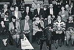 The winners of the Clare Young Environmentalists 1991 awards, pictured at the Aillwee Cave with the Minister for Environmental Awareness, Mary Harney. Front row, from left: Anne Keane, Ballyea National School; Nuala D'Auria, Enzo's, Ennis; Hugh Weir, President of CYE; Minister Harney; David Rowe, Dublin, the national award-winner; Hilary Gilmore, Clarecastle; Jim Connolly, Kilbaha. Back row, from left: Joe Noonan, Flagmount; Mary Angela Keane, Lisdoonvarna; Sr Francis, Ennis; Frank Kenny, Ennis; Caimin Jones, Clare FM and Lucy Hastings McGrath, Newmarket-on-Fergus.