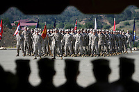 X.silver.5.0717.jl.jpg Marines stand at attention during Marine Staff Sgt. Paul B. Worley ceremony awarding the Silver Star Tuesday  on Camp Pendleton.  JAMIE SCOTT LYTLE  | jlytle@nctimes.com