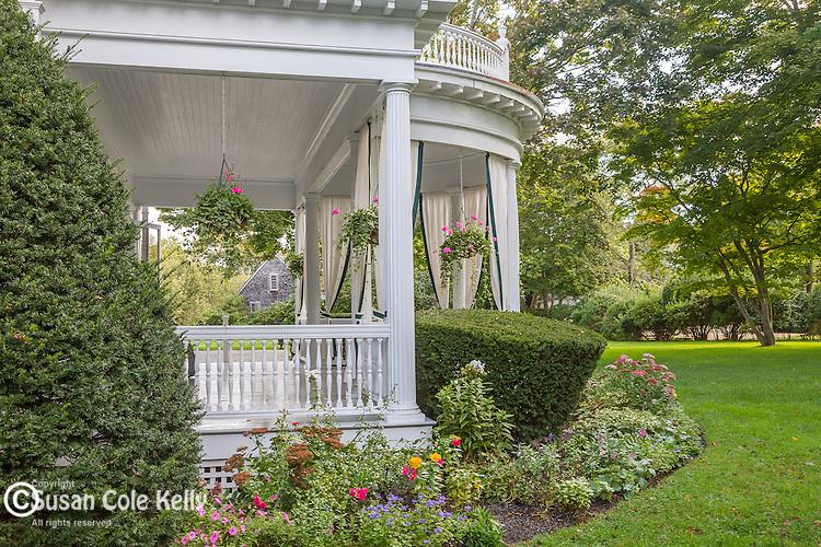 The Dr. Daniel Fisher House (1840) in Edgartown, Marthas Vineyard, Massachusetts, USA