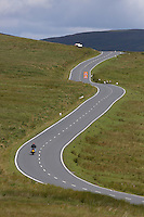 WEATHER PICTURE WALES<br />Pictured: The road in Brecon Beacons, Wales, UK<br />Re: Sunshine and high temperatures are due to affect most of the UK this week.