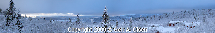 Winter at Venabygdsfjell in the Norwegian mountains close to Lillehammer