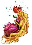 Illustration of Virgo zodiac sign