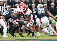 Auburn, AL - November 11, 2017: The number 10 ranked Auburn Tigers host the number 1 ranked Georgia Bulldogs at Jordan-Hare Stadium.