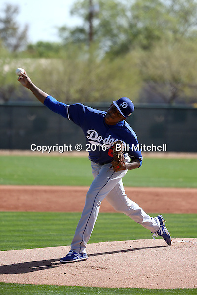 Angel German - Los Angeles Dodgers 2016 spring training (Bill Mitchell)