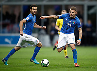 Soccer Football - 2018 World Cup Qualifications - Europe - Italy vs Sweden - San Siro, Milan, Italy - November 13, 2017 <br /> Italy's Ciro Immobile (r) and Marco Parolo (l) in action during the FIFA World Cup 2018 qualification football match between Italy and Sweden at the San Siro Stadium in Milan on November 13, 2017.<br /> UPDATE IMAGES PRESS/Isabella Bonotto