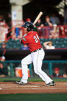 Erie SeaWolves left fielder Corey Jones (24) during a game against the Richmond Flying Squirrels on May 27, 2016 at Jerry Uht Park in Erie, Pennsylvania.  Richmond defeated Erie 7-6.  (Mike Janes/Four Seam Images)