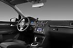 Passenger side dashboard view of a 2010 Volkswagen Touran Highline 5 Door Mini MPV.