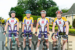 At the County  Cycling Championships in Cordal on Thursday were l-r  Jeremy Walsh, Chris Murray, Rusty O'Sullivan and Richie O'Sullivan