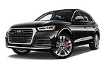 Stock pictures of low aggressive front three quarter view of a 2018 Audi SQ5 Premium Plus 5 Door SUV