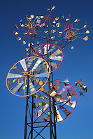 Massachusetts, Boston: Mobile Sculpture Whirls In Wind; Near E. Boston Water Shuttle Dock