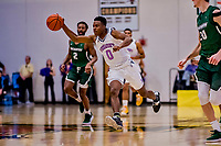 19 January 2019: University of Vermont Catamount Guard Stef Smith, a Sophomore from Ajax, Ontario, in second half Men's Basketball action against the Binghamton University Bearcats at Patrick Gymnasium in Burlington, Vermont. The Catamounts defeated the Bearcats 78-50 to remain unbeaten in conference play to date this season. Mandatory Credit: Ed Wolfstein Photo *** RAW (NEF) Image File Available ***