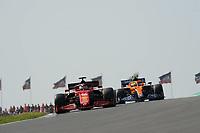 3rd September 2021: Circuit Zandvoort, Zandvoort, Netherlands;   FORMULA 1 HEINEKEN DUTCH GRAND PRIX 2021 Charles Leclerc MCO 16 , Scuderia Ferrari Mission Winnow, Lando Norris GBR 4 , McLaren F1 Team