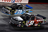 #51: Chandler Smith, Kyle Busch Motorsports, Toyota Tundra iBUYPOWER and #75: Parker Kligerman, Henderson Motorsports, Chevrolet Silverado Food Country USA