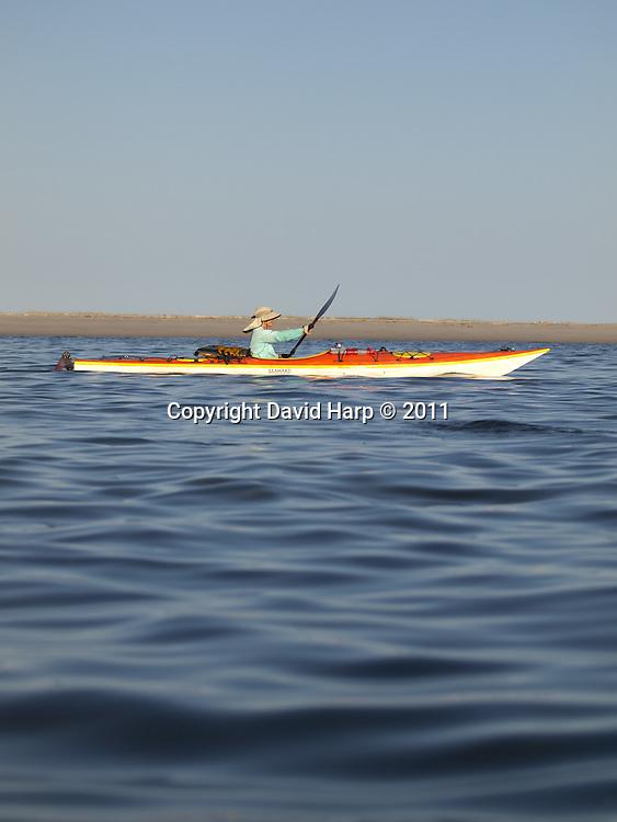 Kayaking through the shallows near Shanks Island, between Tangier Sound and Chesapeake Bay.