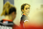Berlin, Germany, February 10: During the FIH Indoor Hockey World Cup quarterfinal match between Germany (black) and Poland (red) on February 10, 2018 at Max-Schmeling-Halle in Berlin, Germany. Final score 3-1. (Photo by Dirk Markgraf / www.265-images.com) *** Local caption *** Marie MAEVERS #23 of Germany