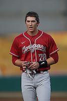 Shane Matheny (28) of the Washington State Cougars during a game against the Southern California Trojans at Dedeaux Field on March 13, 2015 in Los Angeles, California. Southern California defeated Washington State, 10-3. (Larry Goren/Four Seam Images)