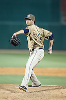 Evan Scribner #34 of the Tucson Padres plays in a Pacific Coast League game against the Salt Lee Bees at Kino Stadium on April 17, 2011  in Tucson, Arizona. .Photo by:  Bill Mitchell/Four Seam Images.