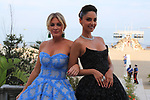78th Venice Film Festival  at the Lido in Venice, Italy on September 7, 2021. Celebrity Sightings (L-R) Patricia Contreras, Hofit Golan at the beach of the Excelsior Hotel