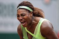 4th July 2021; Roland Garros, Paris France; French Open tennis championships day 6;  Attitude de Serena Williams (USA )