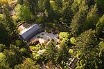 Aerial View of Portland Japanese Garden, Oregon