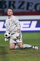 Poland goalkeeper Artur Boruc. The United States defeated Poland 3-0 during an international friendly at Wisla Stadium in Krakow, Poland on March 26, 2008.