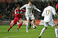 League Cup Quarter Final, Swansea V Middlesbrough, Liberty Stadium, 12/12/12<br /> Picture by: Ben Wyeth<br /> Pictured: (L-R) Michu, Itay Shechter.<br /> Athena Picture Agency