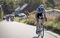 eventual race winner Krist Neilands (LAT/Israel Cycling Academy) making the winning move from the front of the peloton<br /> <br /> 60th Grand Prix de Wallonie 2019<br /> 1 day race from Blegny to Citadelle de Namur (BEL / 206km)<br /> <br /> ©kramon