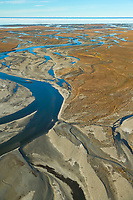 River draining out of the Brooks Range in the Arctic National Wildlife Refuge, Alaska.