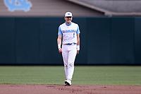CHAPEL HILL, NC - FEBRUARY 27: Danny Serretti #1 of North Carolina plays shortstop during a game between Virginia and North Carolina at Boshamer Stadium on February 27, 2021 in Chapel Hill, North Carolina.