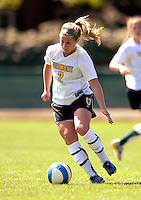 2 September 2007: University of Vermont Catamounts' Erin Pichiotino, a Junior  from Burlington, VT, in action against the George Washington University Colonials at Historic Centennial Field in Burlington, Vermont. The Colonials rallied to defeat the Catamounts 2-1 in overtime during the TD Banknorth Soccer Classic...Mandatory Photo Credit: Ed Wolfstein Photo
