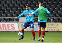 Huddersfield Town's Christopher Schindler during the pre-match warm-up <br /> <br /> Photographer Ian Cook/CameraSport<br /> <br /> The EFL Sky Bet Championship - Swansea City v Huddersfield Town - Saturday 17th October 2020 - Liberty Stadium - Swansea<br /> <br /> World Copyright © 2020 CameraSport. All rights reserved. 43 Linden Ave. Countesthorpe. Leicester. England. LE8 5PG - Tel: +44 (0) 116 277 4147 - admin@camerasport.com - www.camerasport.com