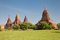 Myanmar, Burma.  Bagan.  Yadanar Manaung Temple Complex, 11th. Century.