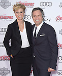 "Sunrise Coigney and actor Mark Ruffalo attends The World Premiere of Marvel's ""Avengers"" Age of Ultron,"" held at The Dolby Theatre in Hollywood, California on April 13,2015                                                                               © 2014 Hollywood Press Agency"
