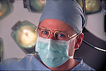 portrait of surgeon in operating room