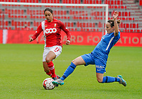 Standard's Lola Wajnblum (11) and Genk's xxx in action during a female soccer game between Standard Femina de Liege and KRC Genk Ladies  on the third matchday of the 2020 - 2021 season of Belgian Womens Super League , Saturday 3 rd of October 2020  in Liege , Belgium . PHOTO SPORTPIX.BE   SPP   SEVIL OKTEM