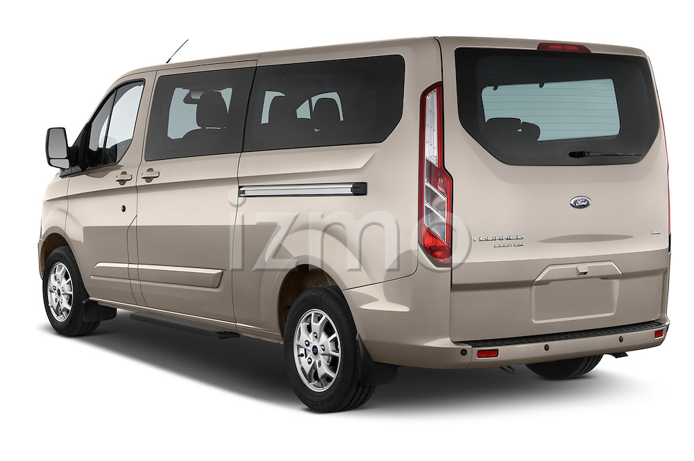 Car pictures of rear three quarter view of a 2013 Ford TOURNEO CUSTOM TITANIUM 5 Door Combi Angular Rear