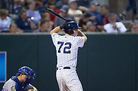 Jake Farrell (72) of the Pulaski Yankees at bat against the Burlington Royals at Calfee Park on September 1, 2019 in Pulaski, Virginia. The Royals defeated the Yankees 5-4 in 17 innings. (Brian Westerholt/Four Seam Images)