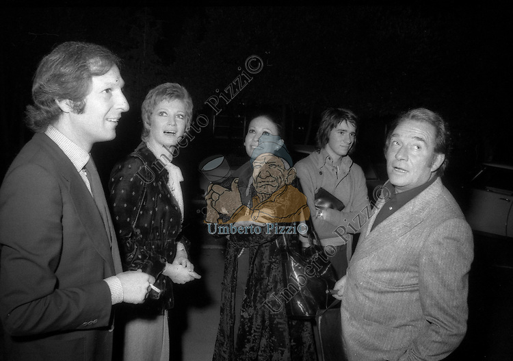 FEDERICO PANTANELLA, CARLA GRAVINA. UGO E RICKY TOGNAZZI E FRANCA BETTOIA<br /> ROMA 1972