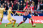 Diego Costa (R) of Atletico de Madrid is followed by Borja Garcia Freire of Girona FC during the La Liga 2017-18 match between Atletico de Madrid and Girona FC at Wanda Metropolitano on 20 January 2018 in Madrid, Spain. Photo by Diego Gonzalez / Power Sport Images