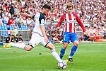Atletico de Madrid's player Antoine Griezmann and Deportivo de la Coruña's player Borja Valle during a match of La Liga Santander at Vicente Calderon Stadium in Madrid. September 25, Spain. 2016. (ALTERPHOTOS/BorjaB.Hojas)